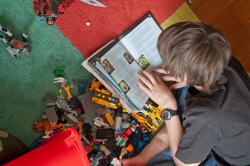 Reece making Bionicles