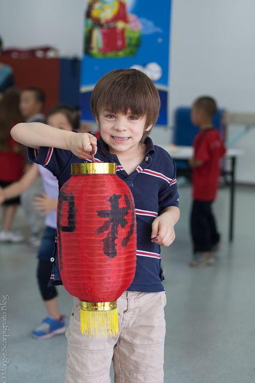 The artist is proud of his Mid Autumn Festival Lantern