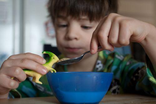 Feeding Dino - horiz