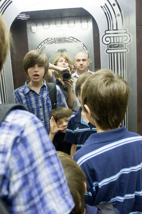 First Day of School - Family Photo Elevator