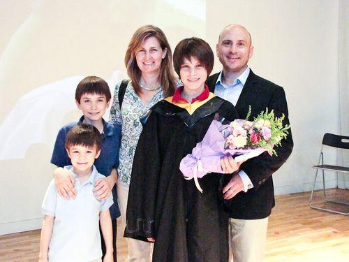 Elementary School Graduation Family Photo