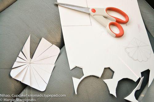 Template for craft foam stamp starburst