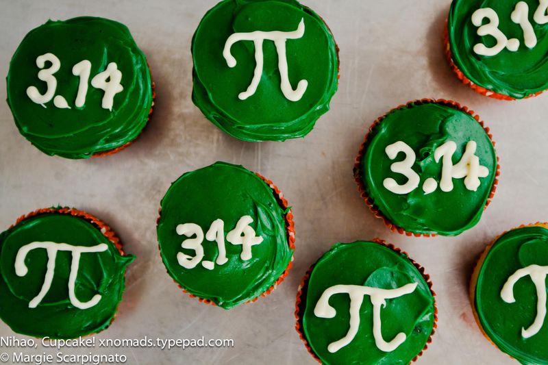 xnomads.typepad.com Pi Day cupcakes 3.14 and Pi symbol