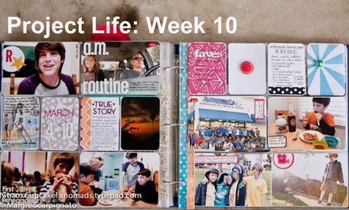 Project Life Week 10 full spread