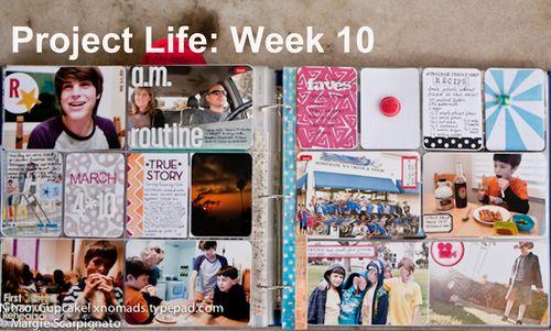 Project Life Week 10 full spread