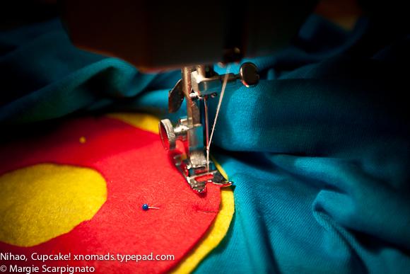 xnomads.typepad.com Birthday Number Tee sewing close-up