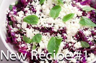 Red Cabbage, Feta & Mint