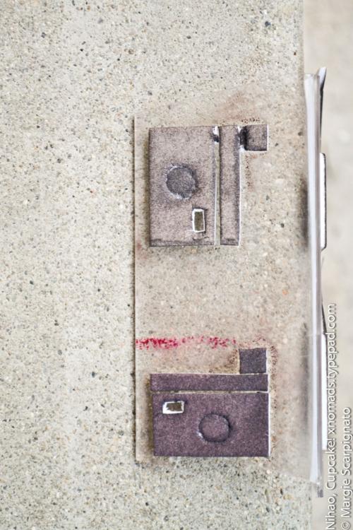 Camera craft foam stamp