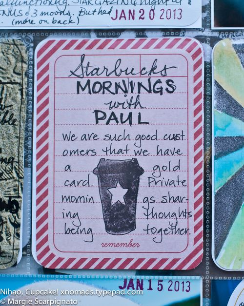 Coffee Cup Stamp Project Life Journal Card