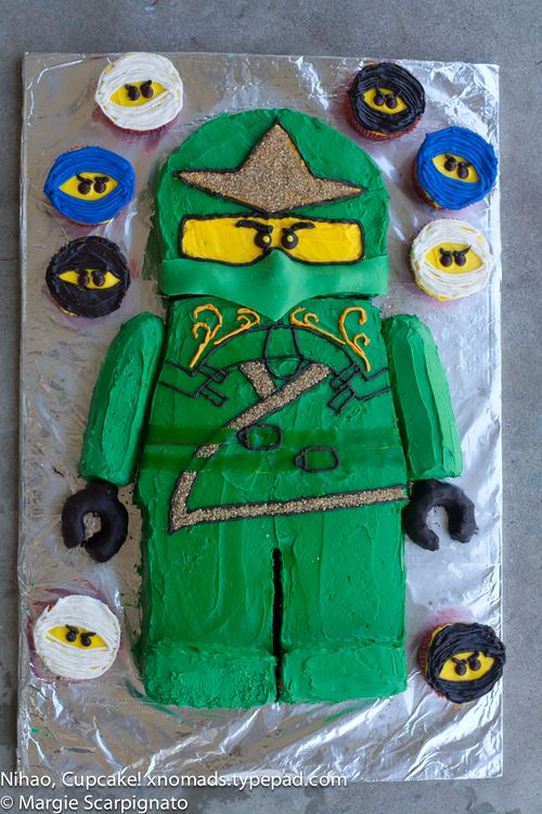 Super Lego Ninjago Birthday Cake Nihao Cupcake Funny Birthday Cards Online Inifofree Goldxyz