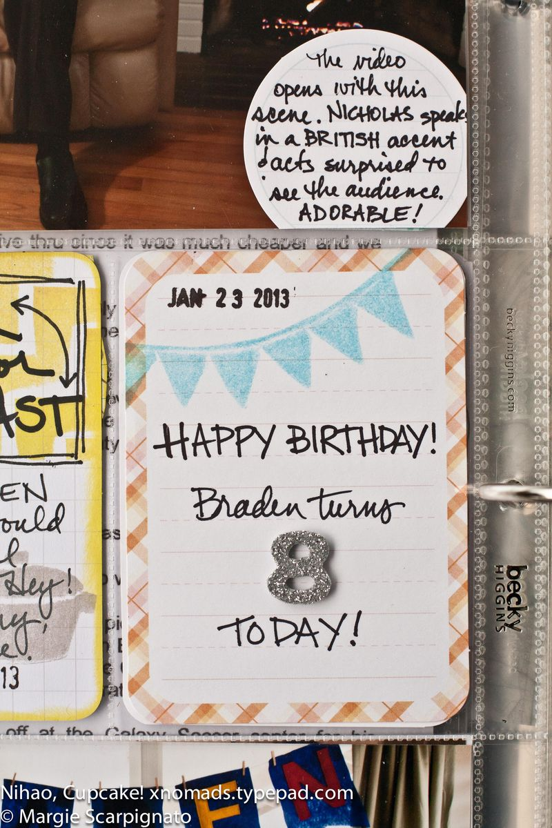 MJS Banner Stamp Project Life Journal Card