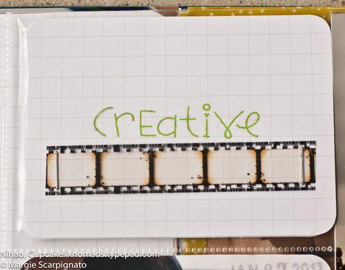 MJS Project Life Journal Card Rub On Film Strip