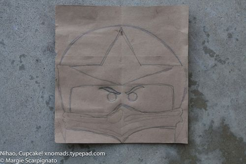 Lego Ninjago helmet cake template xnomads.typepad.com