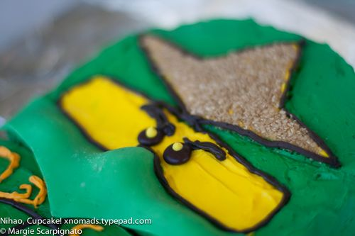 xnomads.typepad.com Lego Ninjago Mini Fig cake face close-up