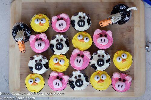 Farm Animal Cupcakes xnomads.typepad.com