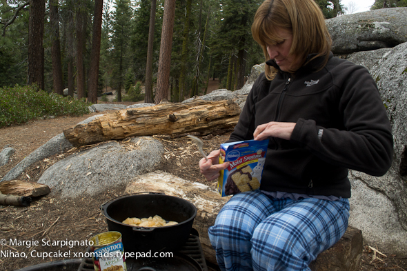 xnomads.typepad.com Camping Dutch Oven cake