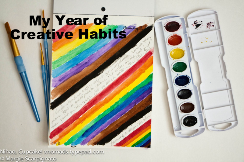 My Year of Creative Habits Day 1 at Nihao, Cupcake! xnomads.typepad.com