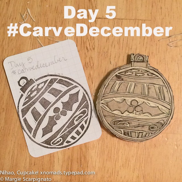 DIY stamp carving engraved Christmas #CarveDecember with Balzer Designs